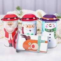 decorar caixa de doces venda por atacado-Retângulo De Metal Doce Jar Natal Decorar Caixa de Doces Crianças Presente Caso Novo Padrão Com Vários Padrão 4 78qy J1