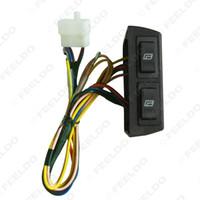 interruptores de ventana universal al por mayor-LEEWA para dos puertas tipo regulador de elevalunas eléctrico universal 3 piezas interruptores con soporte y mazo de cables #: 2468
