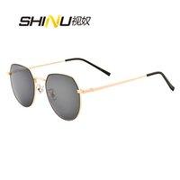 Wholesale sunglasses degree for sale - Group buy SHINU sunglasses men polarized sun glasses myopia degree retro metal eyeglasses polarized resin CR prescription lens PM6895