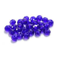 colar de contas de cristal azul escuro venda por atacado-6mm 1000 pcs azul escuro vidro facetado contas redondas Rondelle Áustria contas de cristal para pulseira colar fazendo DIY resultados da jóia