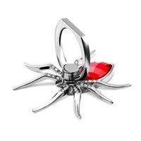 держатель для iphone оптовых-Роскошный металлический Spider Bling Держатель Палец Кольцо 360 Поворот Стенд ТелефонаDiamond Держатель Мобильного Телефона Палец Стенд для iphone samsung 300 шт.