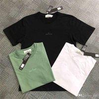 logo avrupalı toptan satış-19SS Avrupa ve Amerikan Sokak Trendy Logo Mektup Işlemeli Kısa Kollu T-Shirt Moda Yıldız Yansıtıcı T-Shirt Toptan
