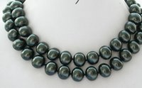 Wholesale free easter eggs for sale - Group buy necklace NEW quot MM Tahitian black EGG SOUTH SEA SHELL PEARL NECKLACE