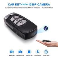 anahtarlık gece görüş toptan satış-1080 P Mini araba anahtarı kamera Full HD gece görüş araba anahtarlık video kaydedici hareket algılama araba Anahtarı DVR destek kayıt sırasında şarj