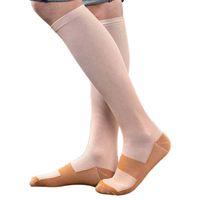 снятие усталости оптовых-Outdoor man Women basketball Cycling socks Anti-Fatigue Slim Compression High Socks Calf Support Relief Legging