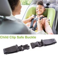 Wholesale baby safe belt resale online - 1pcs Durable Black Car Baby Safety Seat Belt Harness Chest Child Clip Safe Buckle
