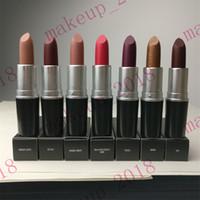 Wholesale rebel lipstick resale online - Top quality Matte lipstick g VELVET TEDDY DIVA RUBY WOO KINDA SEXY PLEASE ME HONEY LOVE REBEL CHILI MARRAKESH MYTH color ePacket