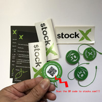 yeni tokalar toptan satış-2019 Yeni Stok X OG QR Kod Etiket Yeşil Dairesel Etiketi Plastik Ayakkabı Toka StockX Onaylı X Otantik Yeşil Etiket