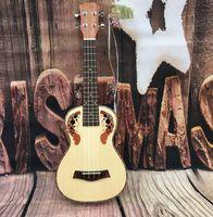 ukulele 23 venda por atacado-Entrada do iniciante padrão 23 polegada abeto Sapele uva buraco pequeno violão ukulele frete grátis
