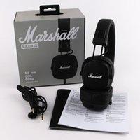intelligente kopfhörerdrähte großhandel-Marshall Major III 3.0 Kabelgebundene Kopfhörer DJ Kopfhörer Headset Kopfhörer für iPhone XR Samsung Smartphone Kopfhörer mit Mikrofon Deep Bass Hi-Fi