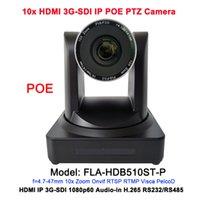 transmisión de videos en vivo al por mayor-2MP HD 10x zoom óptico HDMI IP Live Stream cámara POE con videoconferencia de salida 3G-SDI / RJ45