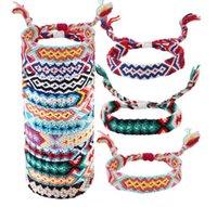 bracelets d'amitié pour femmes achat en gros de-Bracelets pour femmes Amitié motifs géométriques Népal amitié tissé Bracelets (géométrique)
