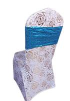 серебряные свадебные банкетные стулья оптовых-Крышка стула группа для свадебного банкета партии декор золото серебро стул пояса 10 шт. оптовые продажи
