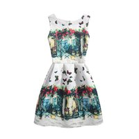 Wholesale mommy daughter clothing matching online - 2019 Fashion Summer Mother Daughter Dress Party Print Butterfly Mom Girls Dresses Family Matching Outfits Mommy And Me Clothes