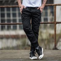 Wholesale trouser online - New Mens Pants Fashion Black Jogging Pants Womens Zipper Overalls Beam Foot Trousers Irregular Joggers Pants Mens Joggers