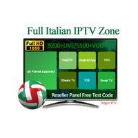 caja iptv árabe gratis al por mayor-Italia Suscripción IPTV para Android TV Box 7000+ Canales en vivo 2500+ VOD Fance / Alemania / EE. UU. / Canadá / Árabe Soporte m3u MAG Box Prueba gratuita