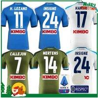 mayo mavi 19 toptan satış-2019 2020 Serie A Napoli Napoli ev futbol formaları Napoli mavi futbol Formaları Gömlek erkekler için 19 20 LOZANO HAMSIK L. INSINNE PLAYER Gömlek