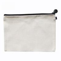 bolsas de cosméticos de lino al por mayor-50 unids 16 * 23 cm lino sublimación en blanco bolsas de cosméticos monedero bolsa de maquillaje de transferencia en caliente de impresión en blanco consumibles
