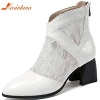 botas de venda bordadas venda por atacado-Karin Hot Sale 2020 Plus Size 50 Estranho Estilo Zipper Ankle Boots Mulher Sapatos Borde Verão Mulheres Botas fêmeas