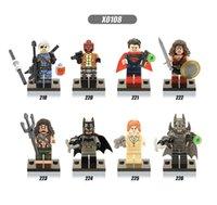 coleção de brinquedos batman venda por atacado-X0108 Super-heróis Deathstroke Red Hood Aqua Homem Piratas Batman Mulher Maravilha Superman Coleção Brinquedos Infantis