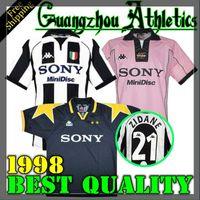 yeni beyaz gömlekler toptan satış-Yeni üst 95 96 97 98 Juventus Beyaz Retro futbol forması 1997 1998 şampiyonu ligi Juventus Vintage futbol formaları 97/98 futbol forması