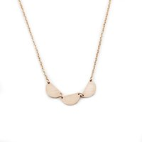 стальные ювелирные изделия выросли оптовых-10PCS Fashion Gold Silver Rose Gold Chain Stainless Steel Party Jewelry Gift Charm Choker Semicircle Necklace
