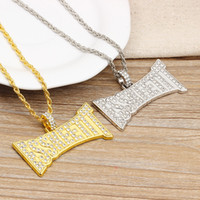 Wholesale rapper necklaces for sale - Group buy Hip Hop Jewelry Rapper ESSKEETIT Pendant Necklace For Men Jewelry Women Hip Hop Necklace Mens Necklaces