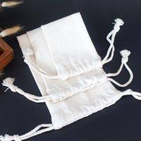 özelleştirilmiş koşu torbaları toptan satış-2019 yeni ürün 12 * 10 cm pamuk kanvas çanta, İpli çanta, kahve çanta logo özelleştirilebilir