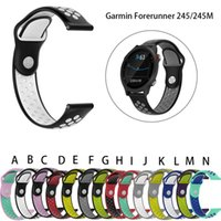 магазин часов оптовых-Мягкий силиконовый ремешок на запястье 20 мм для Garmin Forerunner 245 / 245M Smart Watch Смарт-часы падение по магазинам Caja de reloj # t3