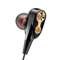 ingrosso cuffia avricolare dell'orecchio del bluetooth-CK8 Auricolari Dual Driver Stereo Bass Sport da corsa Gaming Auricolare In-Ear HIFI Monitor Auricolari Vivavoce con microfono