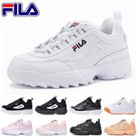 FILA Designer Disruptors Triple weiß schwarz grau rosa Frauen Männer Spezialbereich Sport Sneaker erhöht Jogging Laufschuhe 36 44