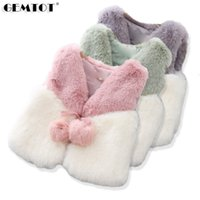 Wholesale hair clothes for girls for sale - Group buy 2019 Winter New Faux Fur Girl Vest Lace Hair Ball Plush Coat Jacket Children s Clothes For The Little Girl Princess