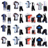 pantalones cortos para hombre de ciclismo jersey rojo al por mayor-Summer New Giant ciclismo jersey pro team Hombres baberos cortos de manga corta conjuntos almohadilla de gel 3D transpirable de secado rápido bicicleta ropa A50507