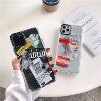 Wholesale Luxury Art Letter Label Phone Case For iphone Pro Max plus Back Cover For iphone X XR XS Max Transparent Soft Case Funda