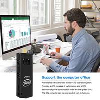 intel soğutucu fan toptan satış-2019 yeni Taşınabilir windows10 W5 Pro Soğutma Fanı Intel Kiraz izi Dört Çekirdekli Atom Z8350 2 GB 32 GB Bilgisayar Dongle MINI ...