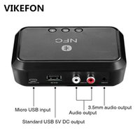 Wholesale Bluetooth Receiver Nfc usb Disk Music Reading Stereo Wireless Adapter mm Aux rca Car Speaker Bluetooth Audio Receiver