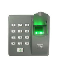 leitor de código de porta venda por atacado-Digital Elétrica Leitor RFID X6 Sistema de Código de Scanner de Dedo Biométrico de Impressão Digital de Controle de Acesso para Fechadura Da Porta Sistema de Segurança Em Casa