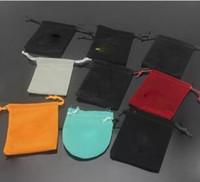 v c al por mayor-Nueva C Marca de joyería de regalo diseñador V bolsa caja para las mujeres de los hombres de acero inoxidable pulsera brazalete anillos collar bolsa de la joyería