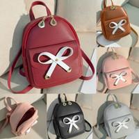 rucksack aus leder für mädchen großhandel-Frauen-Mädchen-Rucksack-Rucksack Reisetasche Schul Leder Mini-Stadtstreicherin PU Zipper Fashion Rucksäcke Female Taschen