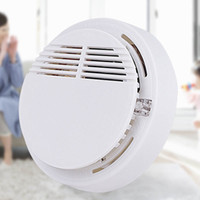 Wholesale 9v smoke detectors online - Smoke Detector Alarms System Sensor Fire Alarm Detached Wireless Detectors Home Security High Sensitivity Stable LED DB V Battery fast