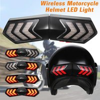 Wholesale wireless motorcycle led light for sale - Group buy Motorcycle Electric Vehicle Universal Smart Wireless LED Helmet Light Real time Synchronization Signal Steering Warning Light