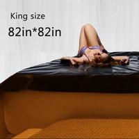 sıcak 68 toptan satış-Sıcak Satış Siyah Master Serisi PVC Düz Levha King Size Su geçirmez Çal Fantezi Formu