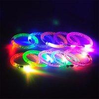 geburtstag mädchen blinkende lichter großhandel-LED leuchtende Armband Cartoon Uhr Jungen Mädchen Flash Wrist Band Licht Armbänder für Geburtstag Halloween Glowing Party Supplies B