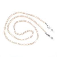 perlen halskette zubehör für frau großhandel-LuReen Champagner Gold Acryl Perlen Sonnenbrillen Kette Halskette stilvolle Brillen Lanyards Halsband Zubehör für Frauen / Mädchen
