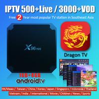 ingrosso porcellana hd-X96 Mini Android TV BOX 1G 8G con Southeast Asia IPTV Abbonamento 500+ Live TV Malaysia Singapore Cina Hong Kong Filippine Indonesia