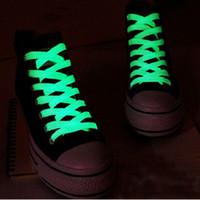 люминесцентная баскетбол шнурков для обуви оптовых-Светящиеся Шнурок 120CM Спортивный Спорт Плоский Бегун шнурков Glow в шнурков Night Флуоресцентные Для спорта Баскетбол Холст обувь