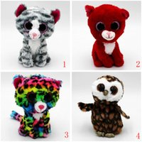 dibujos animados al por mayor-Cute Stuffed Animals Ty Beanie Boos Baby Soft Peluches de peluche Al por mayor Big Eyes Animals Soft Dolls para niños Regalos de cumpleaños Dibujos animados