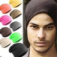 bayanlar pisuarlar toptan satış-Kış Bayan Erkek Nötr Örgü Kış Şapka Casual Innocent Pisuvar Kapağı Katı Renk Hip Hop Düğme Tembel Gevşek Şapka