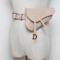 ingrosso sacchetti borsa in pelle-New Fanny Borse per le donne in pelle cintura Marsupio Solid Messenger Borsa a tracolla Pouch Women Waist Wallet Designer Belt Pouch