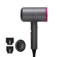 saçları incitmek toptan satış-Difüzör ile Profesyonel İyonik Saç Kurutma Makinesi Sabit Sıcaklık Zarar Vermiyor Çekiç Saç Kurutma Makinesi 110-240 V Negatif İyonik Kuaförler Saç Bakımı